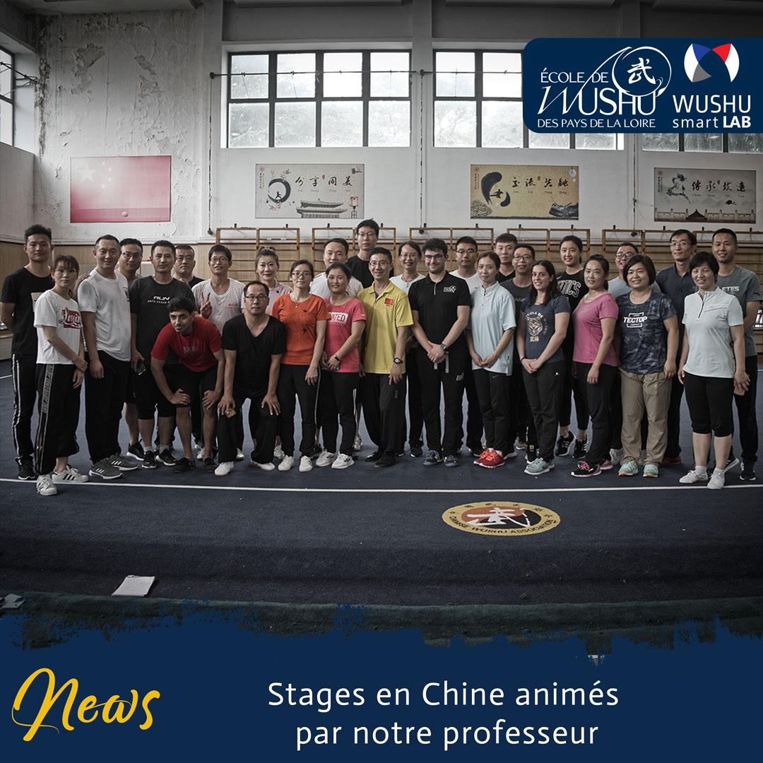 Stages en Chine animés par notre professeur - Centre de fitness